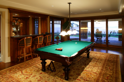 downstairs games room luxury house