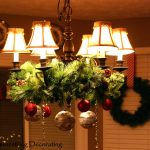 christmas decoration for your chandelier