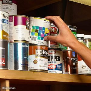 You can hide your valuables in an empty paint can