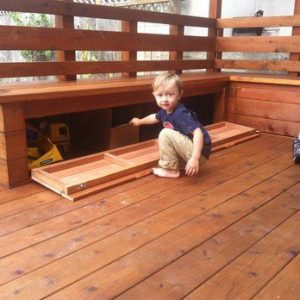 Find additional outdoor storage in your deck benches