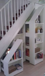 find extra storage space in your staircase