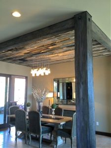 Ceiling features can also subtly separate rooms within your home.
