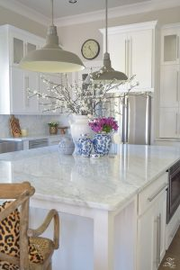 Marble counter tops are prized by bakers.