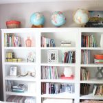 bookcases in the bedroom