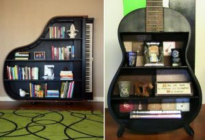 Recycle materials for a bookshelf