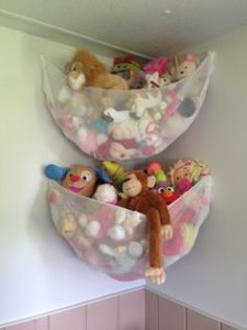 hang a net to corral all the stuffed animals