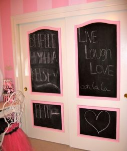 Add a chalkboard for your child to express his or her creativity