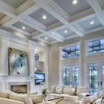 Coffered ceilings create a nice touch