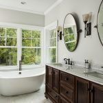 Add a dimmer switch to your bathroom so you can enjoy a good soak in the tub.