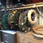 Store your seasonal wreaths by hanging them in your garage.