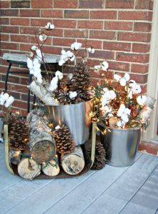 Add some wintery touches to your porch decor