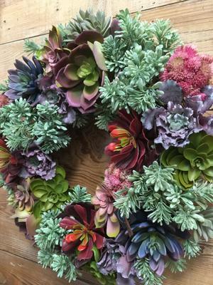 A beautiful wreath.