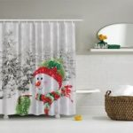 Add some winter decor to your bathroom