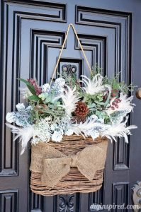 Winter wreath for your front door